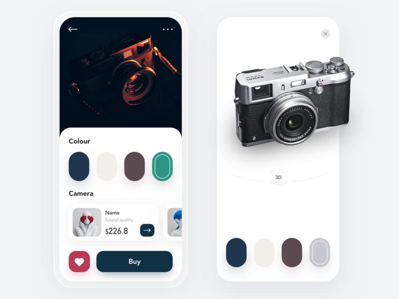 camera app typography art ux icon ui illustration app design