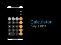 DailyUI Challenge! #004 - CALCULATOR