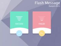 DailyUI Challenge! #011 - FLASH MESSAGE