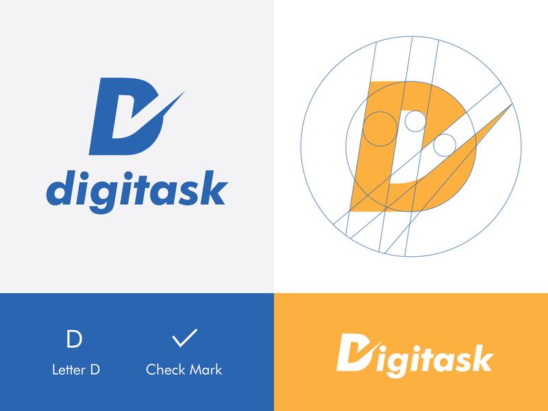 digitask gangm.a elegant modern technology startup design branding graphic design minimal flat logo
