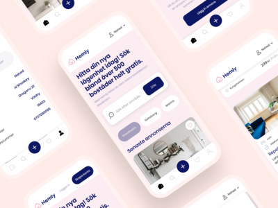 Hemly.se - Mobile Design