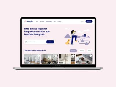 Hemly.se - Webb Design Frontpage