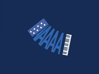 ACORDION instrument letter typography music 36days-a 36daysoftype
