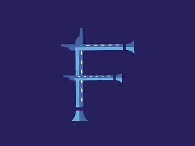 FLUTE behance type blue illustrator illustration krishna song music font flute dribbble typography