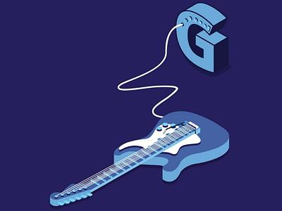 GUITAR behance type instrument music font typography illustrator illustration dribbble hellodribbble electricguitar guitar