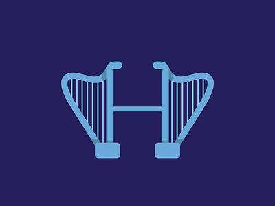 HARP behance font letter type typography instrument music illustration hellodribbble dribbble hapr