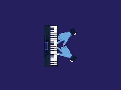 KEYBOARD hand piano keyboard behance dribbble music typography illustration 36daysoftype