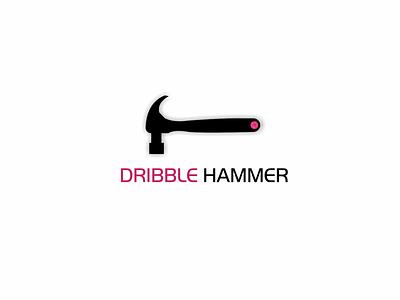 DRIBBLE HAMMER tools toolbox tool repairing repair mechanical motor mechanic hammers hammer graphic icon app vector logo design illustration dribble basketball dribbleartist