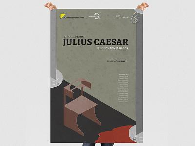Julius Caesar Poster caesar shakespeare theatre illustration isometric poster