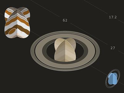 The Solar System, Infographic saturn jupiter planets isometric solar system infographic