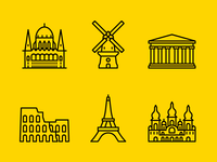 European Capitals - Landmark Icons