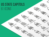 Us State Capitols - Icon Set
