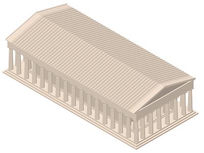 Isometric Parthenon Illustration vector acropolis classical athens greece greek parthenon