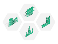 Isometric Landmark Icons
