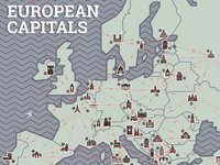 European Capitals Map