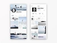 Daily UI #006 - User Profile I - Kelly Slater