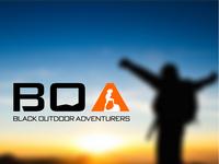 Logo Design BOA, Black Outdoor Adventurers