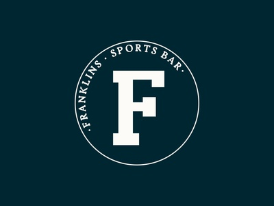 Franklins branding logo bar design sports branding belfast