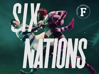 Franklins Six Nations photoshop launch six nations rugby design sports branding bar belfast