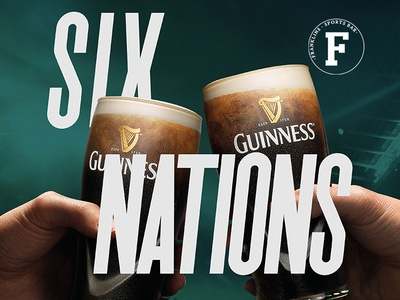 Franklins Six Nations launch six nations rugby logo beer design sports branding bar belfast