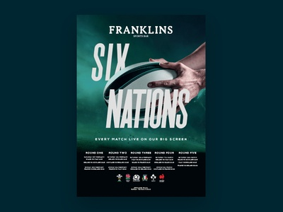 Franklins Six Nations six nations rugby beer launch logo design sports branding bar belfast