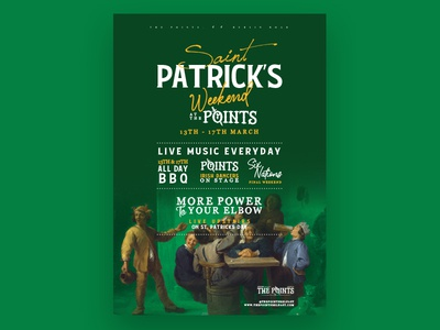The Points St Patricks painting belfast irish irish bar event branding poster points st patricks