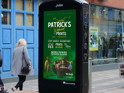 The Points St. Patrick points pulse advertising st patricks bar belfast