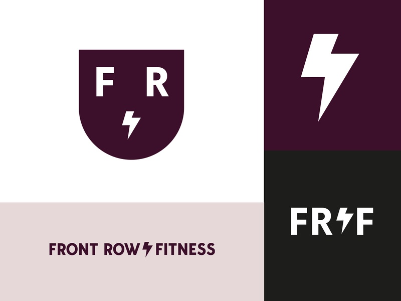 Front Row Fitness Brand Launch vector design logo sports belfast versatile minimal identity icon wordmark fitness personal training crossfit rugby brand