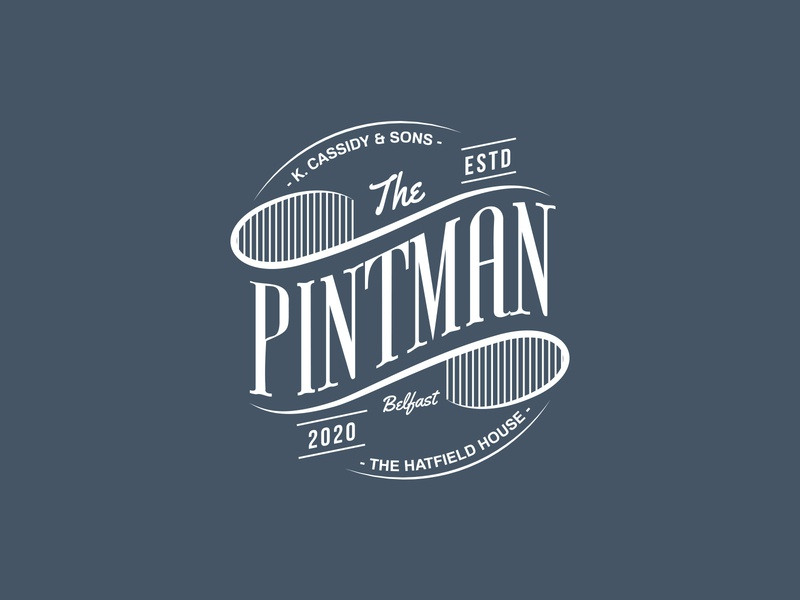 Pintman Branding delivery beer typography vector illustration design bar branding belfast