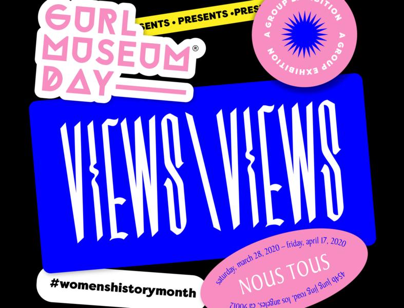VIEWS\VIEWS exhibition art museum stickers typography identity logo branding graphic design graphic design