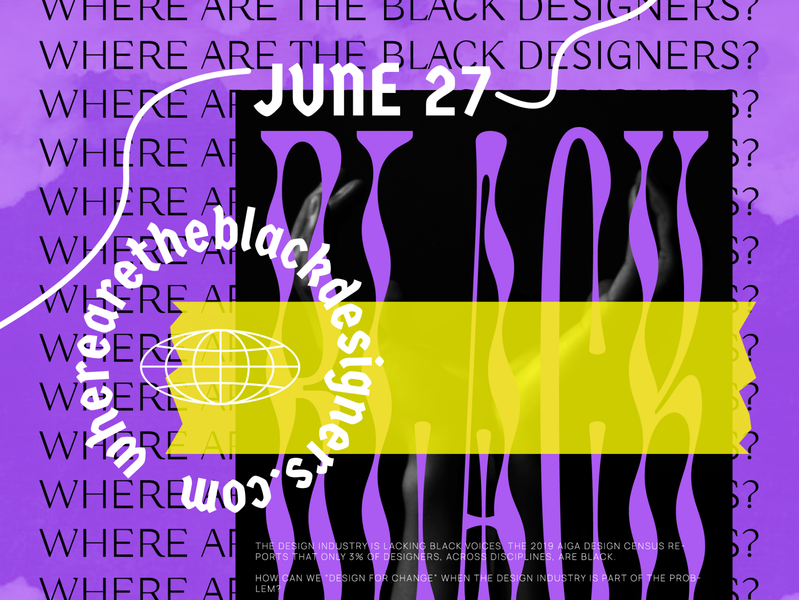 Where Are The Black Designers ? typography call to action black poster illustration graphic design graphic design