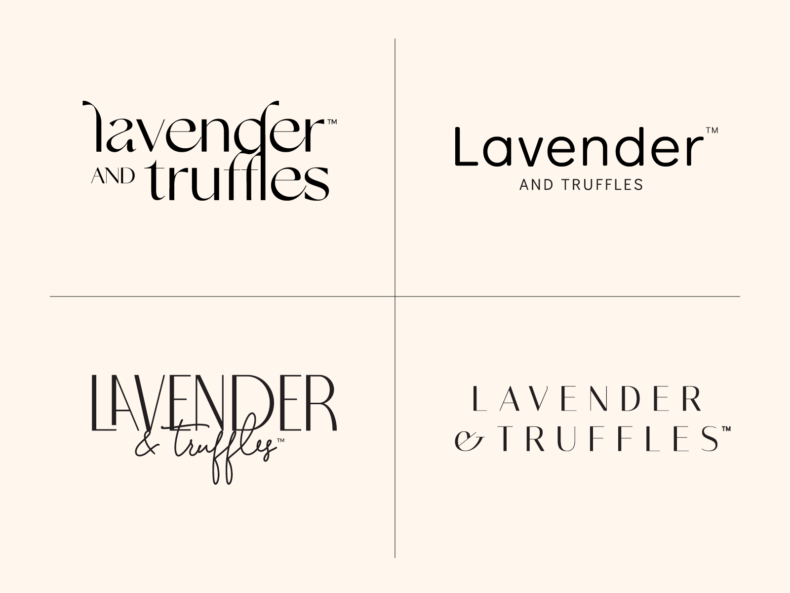 Lavender and Truffles Logo Exploration