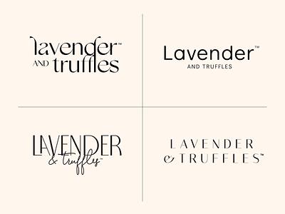 Lavender and Truffles Logo Exploration elegant font typography minimal elegant truffles lavender ice cream identity branding graphic design graphic design logo