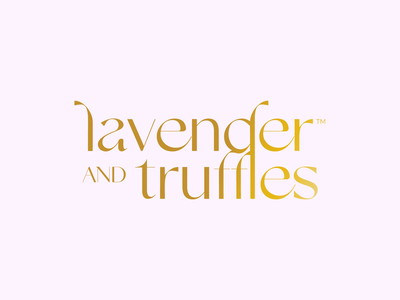 Lavender and Truffles branding design luxury elegant vegan truffles lavender gold identity logo branding graphic design design graphic