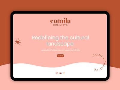 Camila Creative Landing Page web design ux ui typography identity logo illustration branding graphic design graphic design