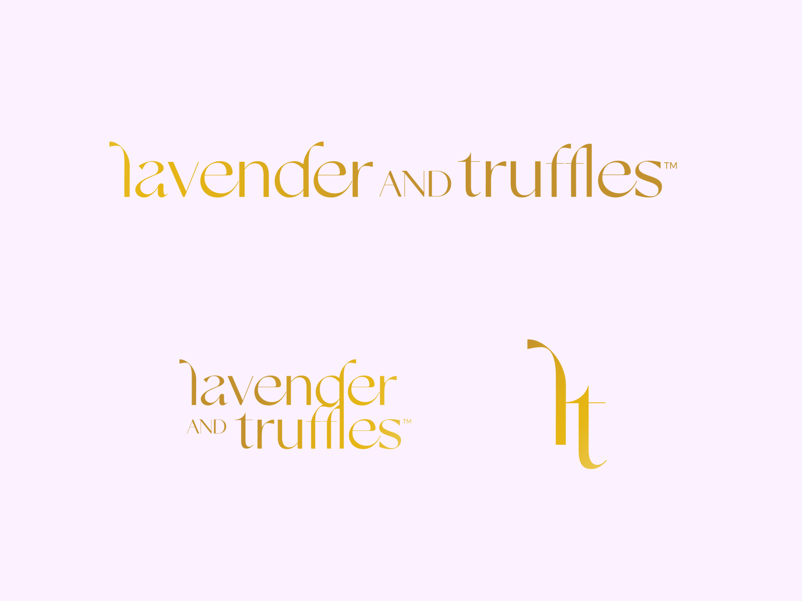 Lavender and Truffles Logos Variations