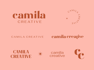 Camila Creative Logo camila creative lockups icon identity logo branding graphic design graphic design