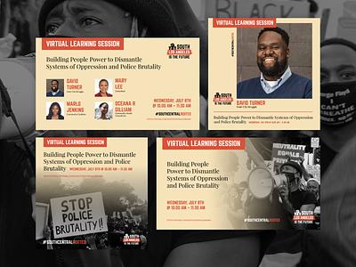 Virtual Learning Session instagram facebook social media los angeles webinar black lives matter graphic design graphic design