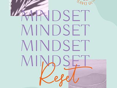 Mindset Reset Workshop flyer illustration typography branding graphic design graphic design