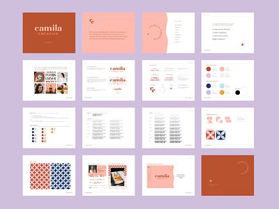 Camila Creative Brand Guidelines camila creative camila typography iconography icon illustration logo branding graphic design graphic design identity