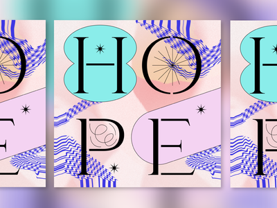 HOPE social hope typeface type typography illustration graphic design graphic design