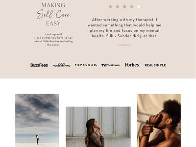 Silk+Sonder Website 2021 web creative direction art direction ecommerce digital web page ui ux webdesign website graphic design graphic design