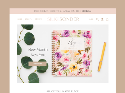 Silk+Sonder Website 2021 web creative direction art direction ecommerce digital web page ui ux webdesign website graphic design graphic design