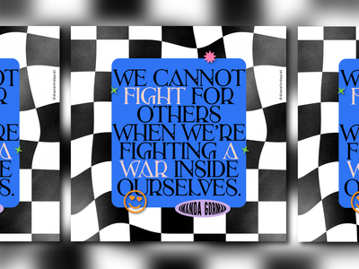 Pushing Forward No.11 typeface type typogaphy smile checkerboard fight social media social graphic design graphic design project quote amanda gorman