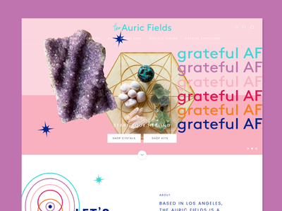 The Auric Field Website shopify store healing chakras auras the auric fields web design website web crystals shop ecommerce shopify ux ui graphic design graphic design