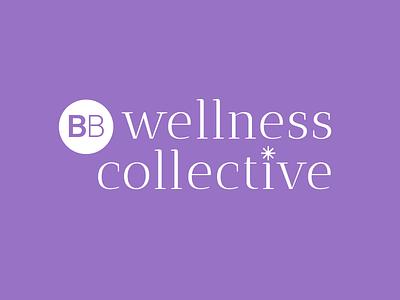 BB Wellness Collective Logo typography identity branding graphic design graphic design wellness logo