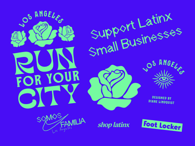 Run For Your City latinx heritage month branding art latina latinx artist art direction t-shirt product design shirt vector illustration graphic design graphic design