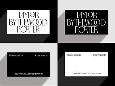 TBP Business Cards white black monochrome stationary business card identity logo branding graphic design graphic design