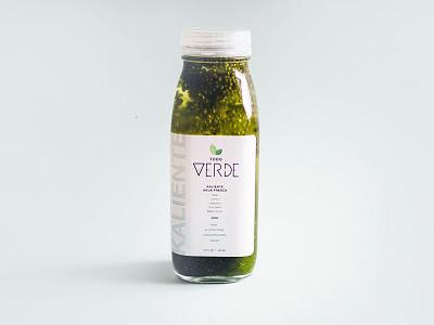 Todo Verde Bottle Design package design latino hispanic graphic design bottle packaging