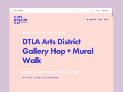 #GURLMuseumDay Website 2014